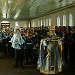 Church Parade of the Life Guards regiment Finland, Boris Kustodiev