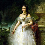 Kaulbach, Friedrich August von – Portrait of Grand Duchess Alexandra Iosifovna, part 06 Hermitage