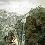 Klerisso, Charles-Louis – Waterfall in Tivoli, part 06 Hermitage