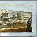 Klerisso, Charles-Louis – View of the Colosseum in Rome, part 06 Hermitage