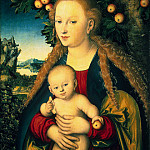 part 06 Hermitage - Cranach, Lucas the Elder - Madonna and Child under the apple tree