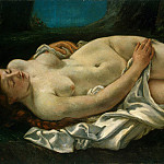 Courbet, Gustave – reclining woman, part 06 Hermitage