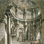 Klerisso, Charles-Louis – Interior of the temple of Jupiter in the palace of Diocletian at Spalato, part 06 Hermitage