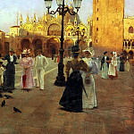 The Italian artists - Tessari Romolo Piazza San Marco, Venice