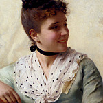 The Italian artists - Conti Tito A Young Beauty