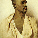 The Italian artists - Bartolini Frederico Portrait Of An Arab Man