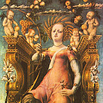 The Italian artists - MICHELE PANNONIO Ceres Enthroned