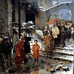 The Italian artists - A Religious Procession in Winter