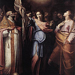 CAVAROZZI Bartolomeo St Ursula And Her Companions With pope Ciriacus And St Catherine Of Alexandria, The Italian artists
