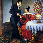 The Italian artists - Tominz Giuseppe The Engaged Couple