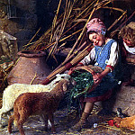 Chierici Gaetano Feeding The Lambs, The Italian artists