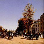 The Italian artists - Grandjean Edmond View Of The Champs Elysees From The Place De L Etoile