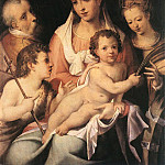 The Italian artists - PASSEROTTI Bartolomeo Holy Family With The Infant St John The Baptist And St Catherine Of Alexandria