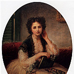 The Italian artists - Amiconi Bernardo Mademoiselle Helene Cassavetti Three Quarter Length