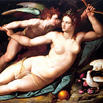The Italian artists - ALLORI Alessandro Venus And Cupid