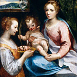 The Italian artists - VANNI Francesco Madonna And Child With St Lucy