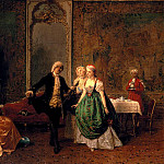 Induno Cavaliere Gerolamo The Dancing Lesson, The Italian artists
