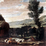 The Italian artists - BONZI Pietro Paolo Landscape With Shepherds And Sheep