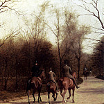 Итальянские художники - Grandjean Edmond Georges An Afternoon Ride Bois De Boulogne