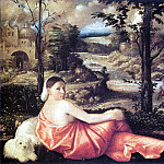 CARIANI Reclining Woman In A Landscape, The Italian artists