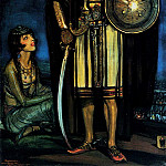 The Italian artists - Beltran Masses Frederico Rudolph Valentino In The Black Falcon