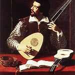 The Italian artists - GRAMATICA Antiveduto The Theorbo Player