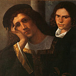 The Italian artists - Giorgione attributed Double Portrait