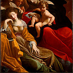 The Italian artists - Carracci Lodovico The Dream of Saint Catherine of Alexandria