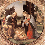 The Italian artists - Bartolomeo Fra The Adoration of the Christ Child
