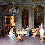 The Italian artists - Beda Francesco Parlor Scene
