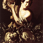 The Italian artists - SALINI Tommaso Boy With A Flask And Cabbages
