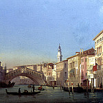 The Italian artists - Caffi Ippolito The Rialto Bridge Venice