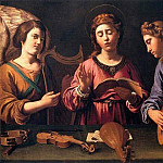 The Italian artists - GRAMATICA Antiveduto St Cecila with Two Angels