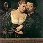The Italian artists - BORDONE Paris The Venetian Lovers