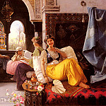 The Italian artists - Quintana Blas Olleras y A Harem Scene