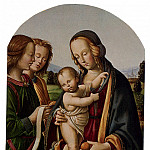 Итальянские художники - Belforte Giovan Maria Di Bartolomeo Bacci Madonna And Child With Two Angels