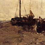 The Italian artists - Gibson William Alfred The Return Of The Fishing Boats
