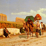 The Italian artists - Gabrini Pietro Travellers In The Roman Campagna