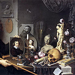 The Italian artists - David Bailly - Self Portrait With Vanitas Symbols