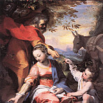 The Italian artists - BAROCCI Federico Fiori Rest On The Flight To Egypt