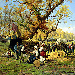 The Italian artists - Barucci Pietro The Horse Fair