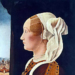 The Italian artists - ROBERTI Ercole de Portrait Of Ginevra Bentivoglio