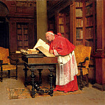 The Italian artists - Bedini Paolo The Cardinal In His Study