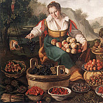 The Italian artists - CAMPI Vincenzo The Fruit Seller