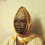 The Italian artists - Bartolini Frederico Portrait Of An Arab Woman