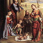 The Italian artists - ORTOLANO Nativity With Saints