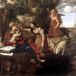 The Italian artists - CAROSELLI Angelo Rest On The Flight Into Egypt