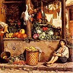 The Italian artists - Meerts Frans Un Marche Aux Legumes