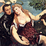 The Italian artists - BORDONE Paris Allegory With Lovers