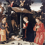 ANTONIAZZO ROMANO Nativity With St Lawrence And Andrew, The Italian artists
